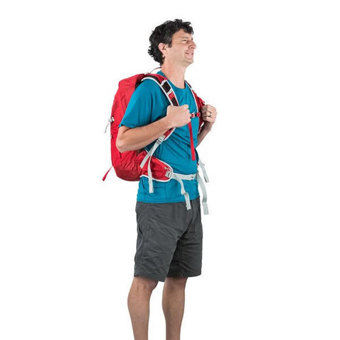 Osprey Talon 22 Litre Lightweight Multi-Sport Day Pack - latest model in use front view