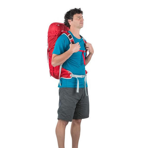 Osprey Talon 33 Litre Light Backpacking / Thru-Hiking Backpack - latest model in use front view