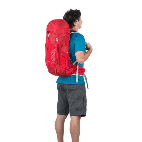 Osprey Talon 33 Litre Light Backpacking / Thru-Hiking Backpack - latest model in use rear view