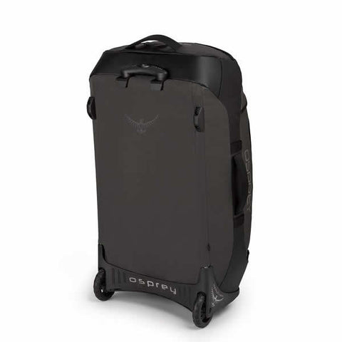 Osprey Transporter 90 Litre Wheeled Duffle Black back view