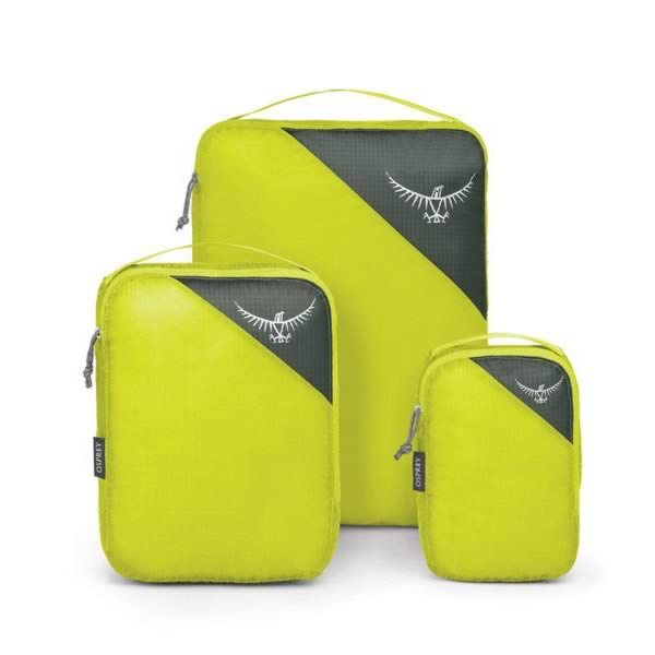 Osprey Ultralight Packing Cube Set of 3 Electric Lime