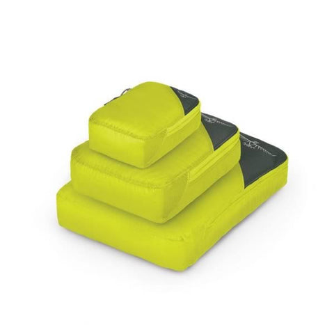 Osprey Ultralight Packing Cube Set of 3 Electric Lime side view