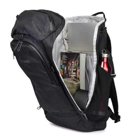 Pacsafe Venturesafe X30 Anti theft Daypack zipped open