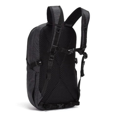 Pacsafe Vibe 25 Litre Anti Theft daypack black carry harness
