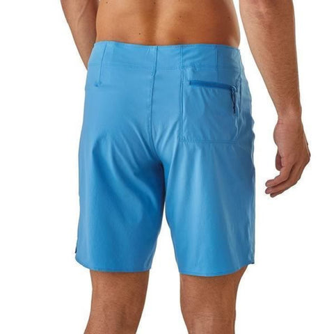 Patagonia Men's Light and Variable 18 inch board shorts in use rear view