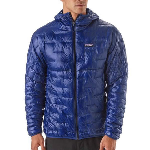 Patagonia Men's Micro Puff Hoody front view in use
