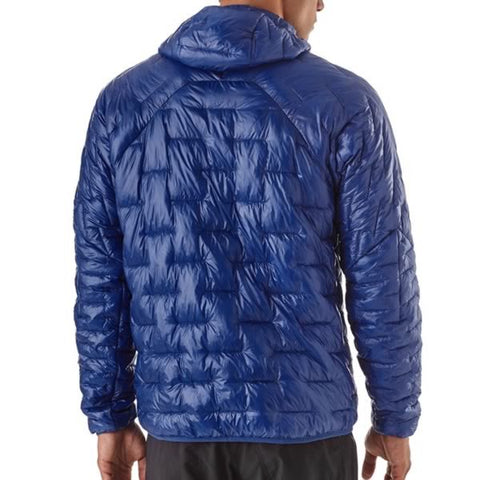 Patagonia Men's Micro Puff Hoody rear view in use