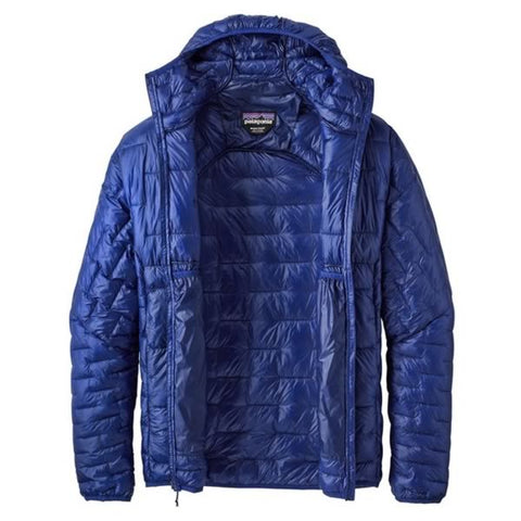 Patagonia Men's Micro Puff Hoody unzipped and open
