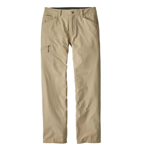 Patagonia Men's Quandary Pants - comfortable, quick-dry, stretch, lightweight hike and travel pants - el cap Khaki