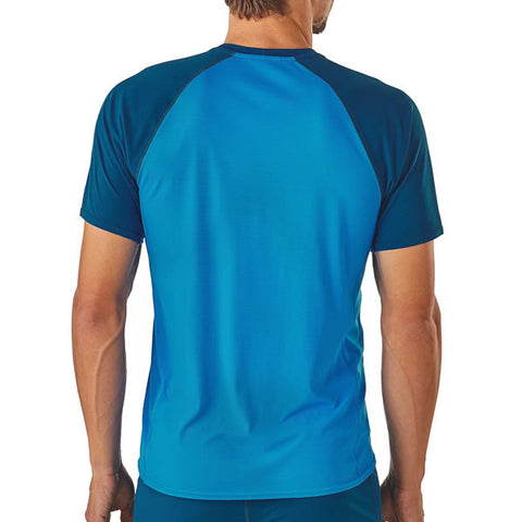 Patagonia Men's Capilene Lightweight T-Shirt in use rear view