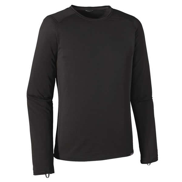 Patagonia Mens Capilene Thermal Weight Crew Thermal Top Front view black