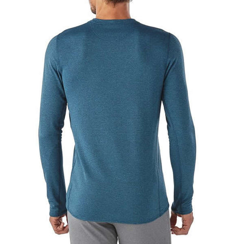 Patagonia Mens Capilene Thermal Weight Crew Thermal Top rear view in use on man