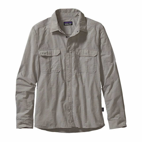 Patagonia Men's Long Sleeve El Ray Travel Shirt, lightweight, quick dry, 40 UPF - Seven Horizons
