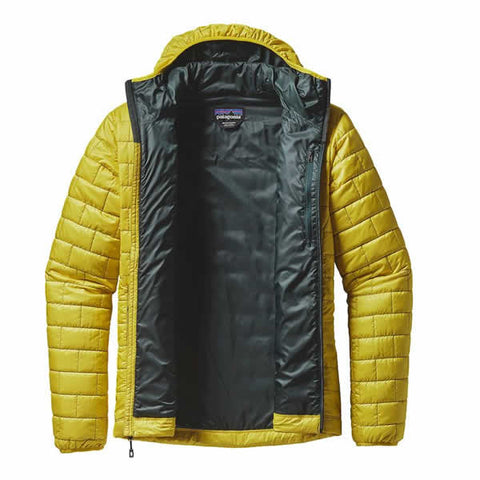 Patagonia Men's Nano Puff Hoody Jacket, latest model - windproof light insulated jacket - Seven Horizons