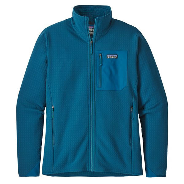 Patagonia Men's R2 TechFace Fleece Full Zip Jacket Big Sur Blue
