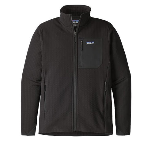Patagonia Men's R2 TechFace Fleece Full Zip Jacket Black