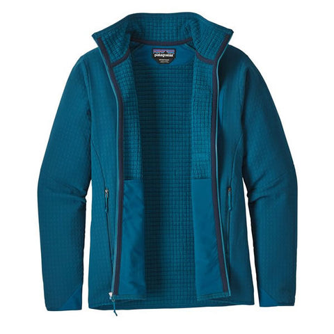 Patagonia Men's R2 TechFace Fleece Full Zip Jacket unzipped