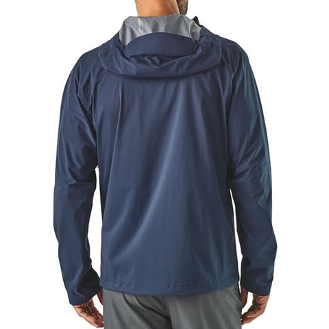 Patagonia Men's Stretch Rainshadow Waterproof Jacket in use front view