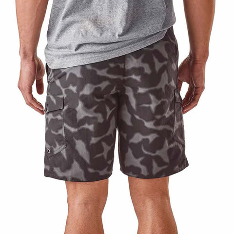 Patagonia Mens Wavefarer Cargo Shorts Forge Grey rear view in use