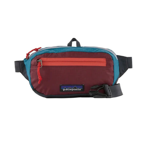 Patagonia Black Hole Mini Hip Pack Patchwork Roamer Red