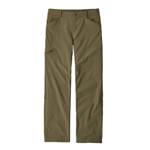 Patagonia Women's Quandary Pants -stetchy, lightweight, quick-dry, hike & travel pants fatigue green
