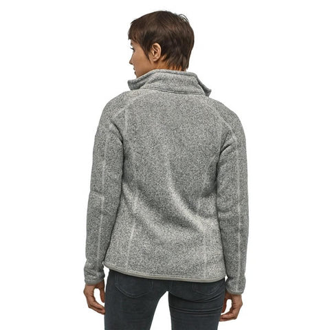 Patagonia Women's Better Sweater Jacket Birch White in use front view