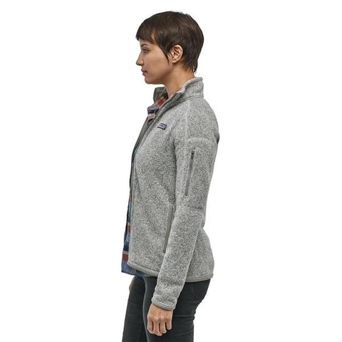 Patagonia Women's Better Sweater Jacket Birch White in use side view