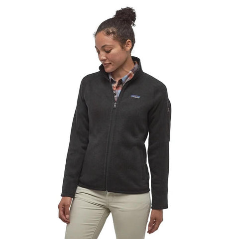 Patagonia Women's Better Sweater Jacket Black in use front view