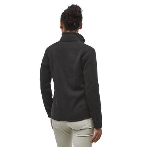 Patagonia Women's Better Sweater Jacket Black in use rear view