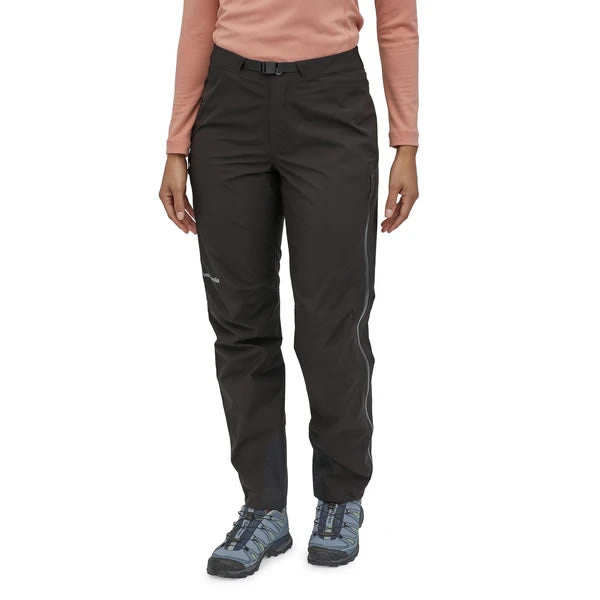 Patagonia Women's Calcite Pants Gore-Tex Black in use front view
