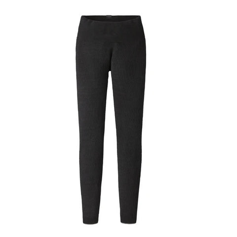 Patagonia Air Womens Thermal Pants black front view
