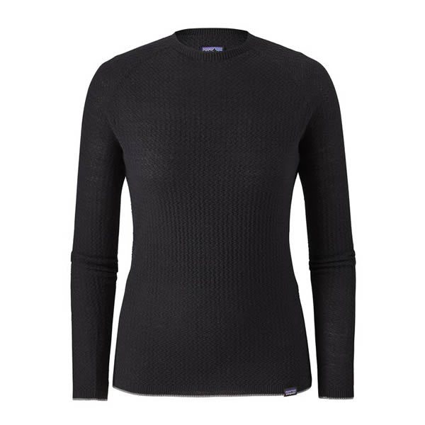 Patagonia Women's Capilene Air Merino Blend Long Sleeve Thermal Top black