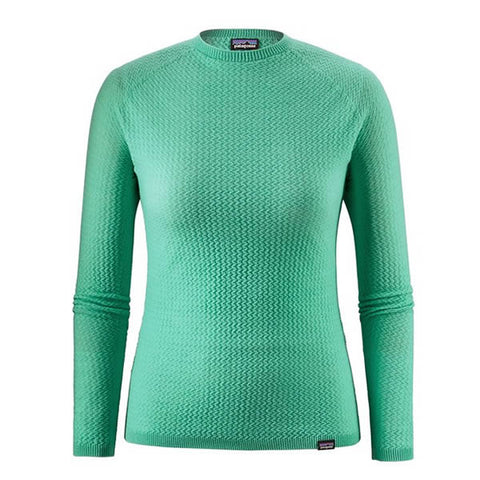 Patagonia Women's Capilene Air Merino Blend Long Sleeve Thermal Top Vjosa Green