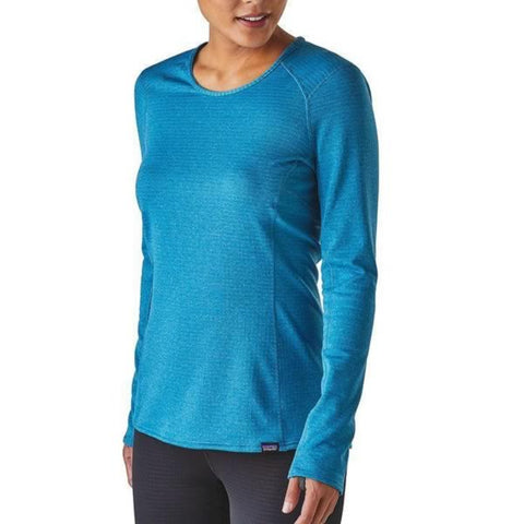 1cc879fb3b448e Patagonia Womens Capilene Thermal Weight Crew Long Sleeve Thermal Top in  use front view ...