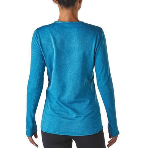 Patagonia Womens Capilene Thermal Weight Crew Long Sleeve Thermal Top in use front view