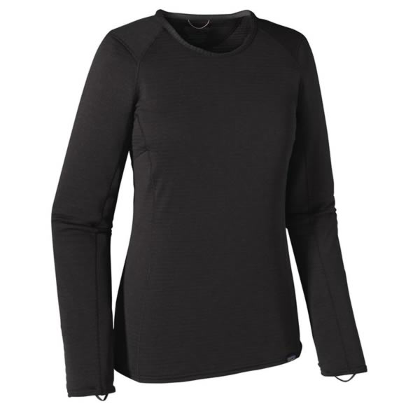 Patagonia Womens Capilene Thermal Weight Crew Long Sleeve Thermal Top black
