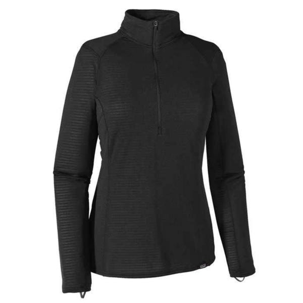 Patagonia Womens Capilene Thermal Weight Zip-Neck Thermal Top black