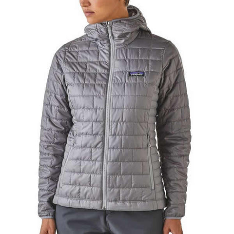Patagonia Women's Nano Puff Hoody front view in use