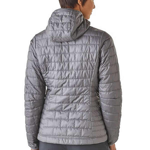 Patagonia Women's Nano Puff Hoody rear view in use