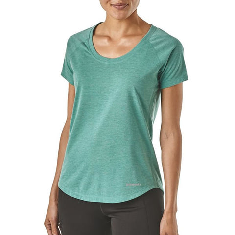 Patagonia Women's Nine Trails Short Sleeve Running Top- Quick-Dry T-Shirt