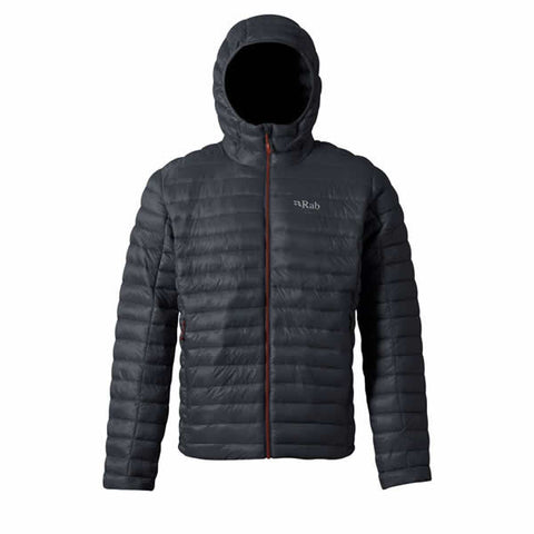Rab Men's Nimbus Windproof Insulated Jacket Beluga with Zinc Red Zipper