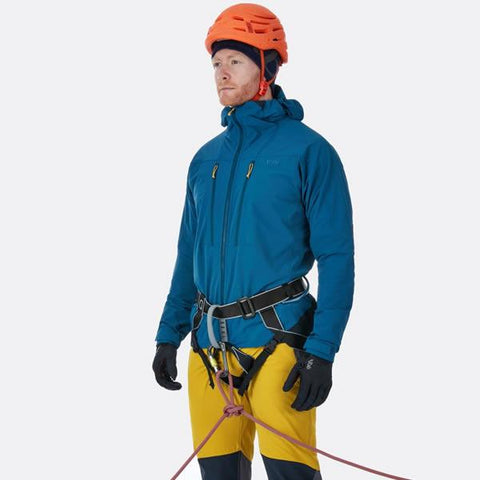 Rab Torque Jacket in use with harness