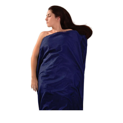Sea to Summit Blended Silk and cotton travel liner long  navy