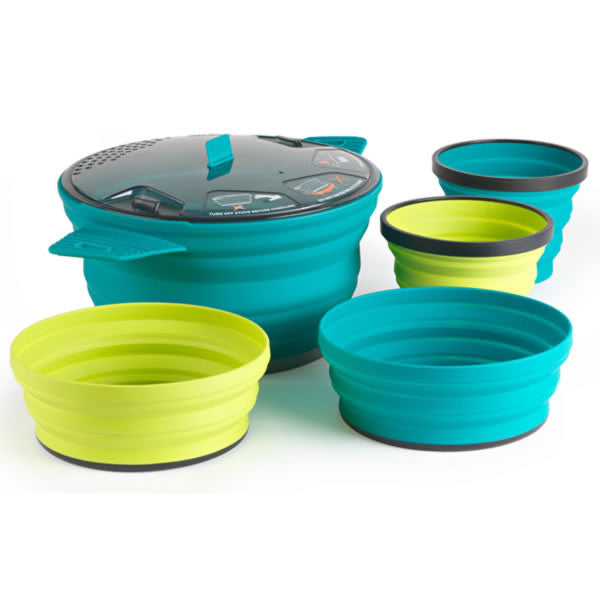 Sea to Summit X-Set 31 - Foldable Camp Pot, Bowls and Mugs - Seven Horizons