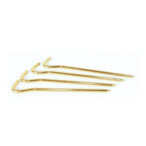 Wilderness Equipment Hiking Tent Peg Hook-Top, Gold, 4 Pack