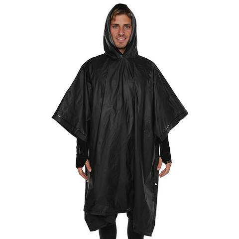 XTM Stash Poncho in use black