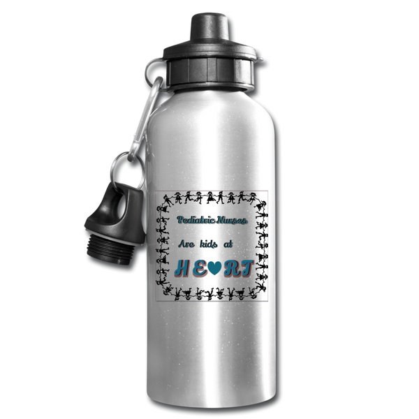 Pediatric Nurses Water Bottle - silver