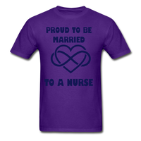 Proud To Be Married To A Nurse Gildan Ultra Cotton Adult T-Shirt - purple