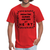 Pediatric Nurses Are Kids At Heart -Men's T-Shirt - red