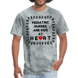 Pediatric Nurses Are Kids At Heart -Men's T-Shirt - grey tie dye